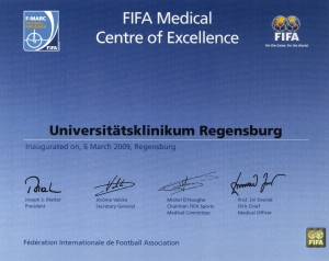 Certificate FIFA Medical Centre